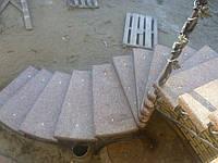 Монтаж  лестниц из мрамора и гранита в Украине