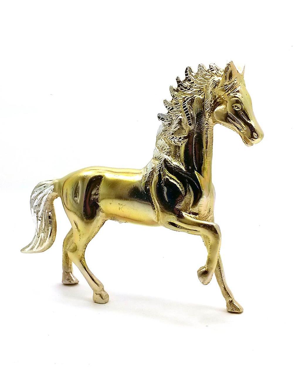 Лошадь алюминий (20х18х4 см)