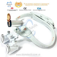 KWS KD-203AY - Бинокуляры + стоматологический свет с головной фиксацией