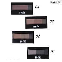 Набор для коррекции бровей Meis Eyebrow 3-цветные (арт. 0-146)