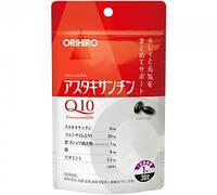 ORIHIRO Астаксантин, Q10,  вит Е, железо + биопирен  30 мягких капсул на 30 дней