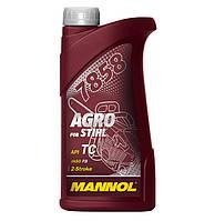Моторное полусинтетическое масло MANNOL 7858 Agro for Stihl 1л.