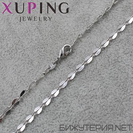 Цепочка Xuping медицинское золото Silver 47 см. 4 мм., фото 2