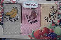 Набор кухонных полотенец Lux Mercan махра Турция коробка
