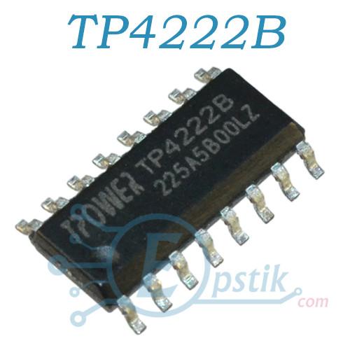 TP4222B, контроллер заряда аккумулятора, SOP16