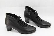 Демісезонні шкіряні черевики на середньому каблуці ANASSANA 0401, фото 2