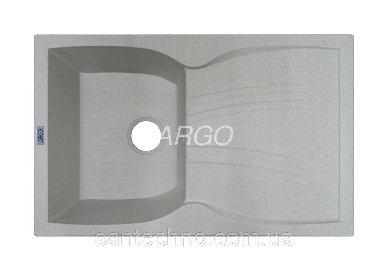 Мийка кухонна врізна з крилом Argo Medio Old Stone 790*500*235