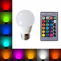 Лампа диско A50 RGB, 220V, пульт Д/У