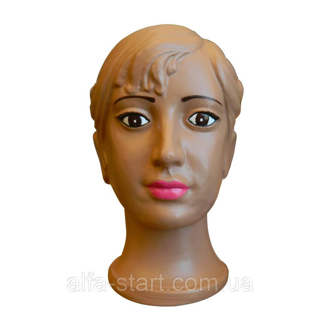 Детская голова манекен Девочка с макияжем