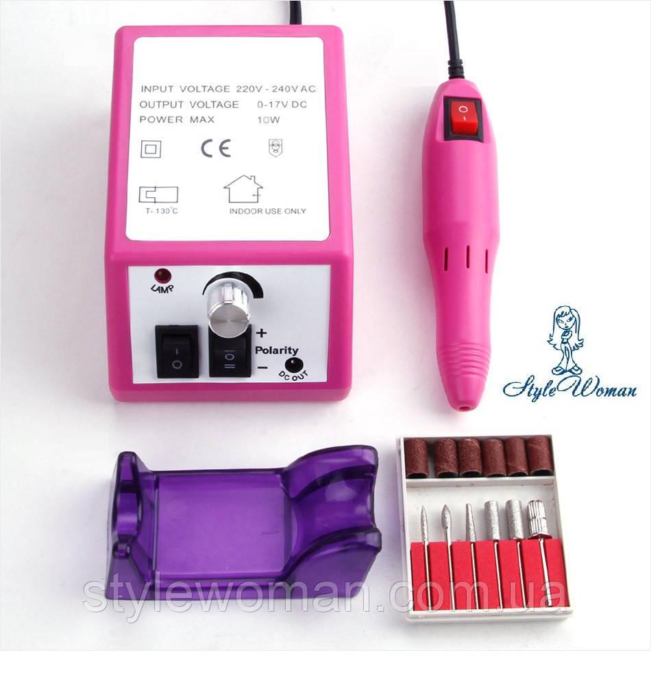 Фрезер для маникюра Lina Mercedes 20000 оборотов розовый