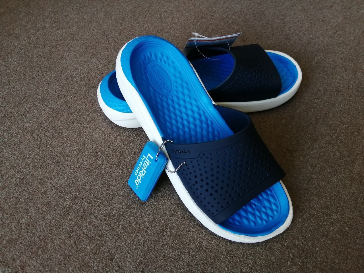 Шлёпанцы Crocs LiteRide Slide синие 44 разм.