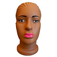 Манекен голова женская Мулатка с макияжем пластмассовая