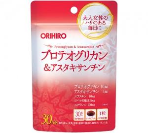Orihiro Proteoglycan & Astaxanthin, сквален, еластин, ластівчине гніздо 30 капсул на 30 днів