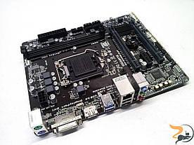 Нова материнська плата для ПК GIGABYTE GA-H110M-D2P, rev.1.0, Socket 1151, DDR4, робоча, дефектна
