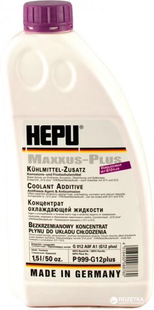 Антифриз HEPU G12plus концентрат (-80) 1,5 л. фіолетовий