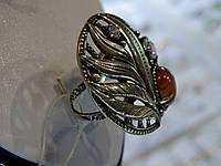Кольцо серебряное с яшмой