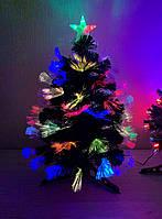 Елка светящаяся оптоволоконная 60 см, фото 1