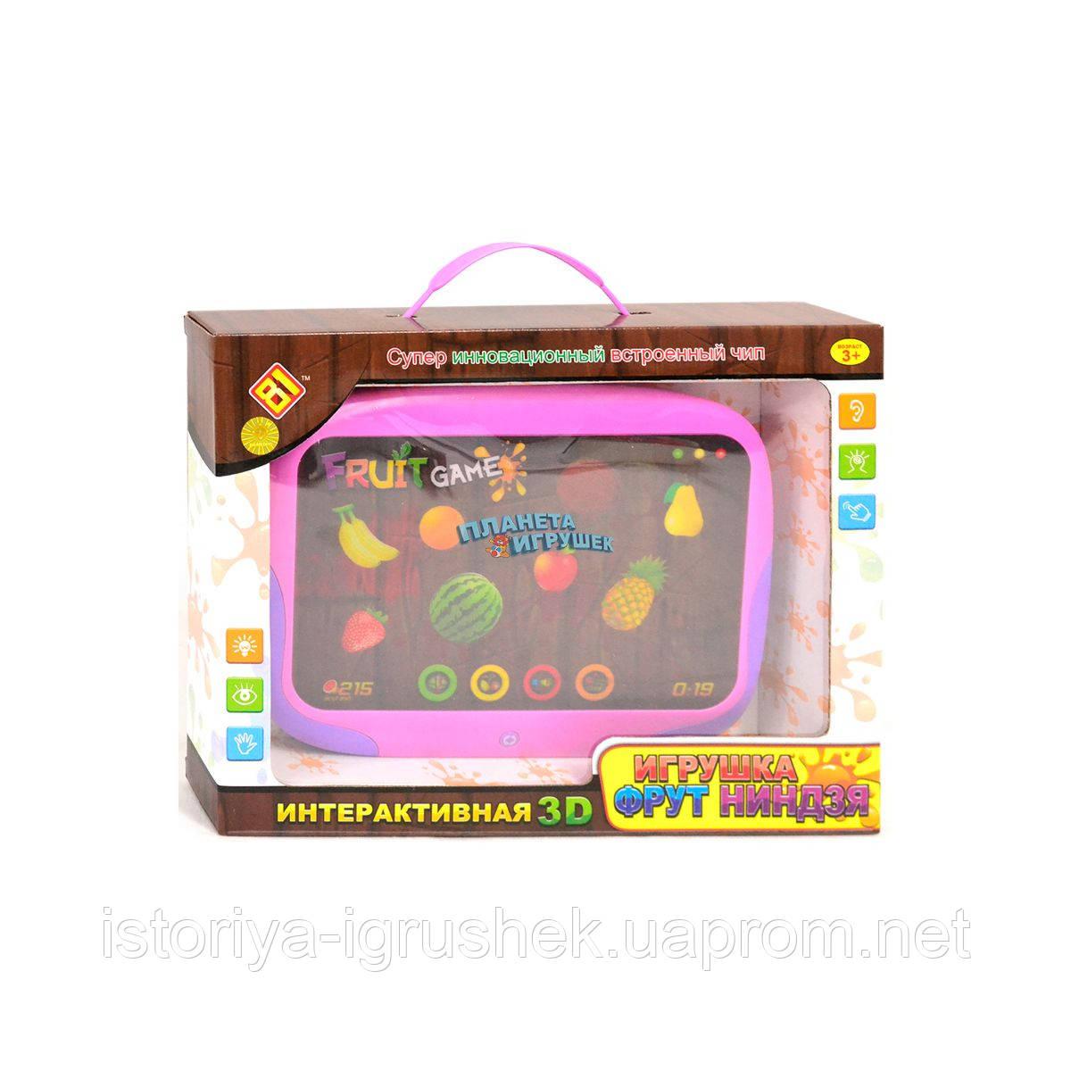 Планшет детский DB 6883 A1 Фрут-ниндзя, сенсорный, рус.озвучивание,све