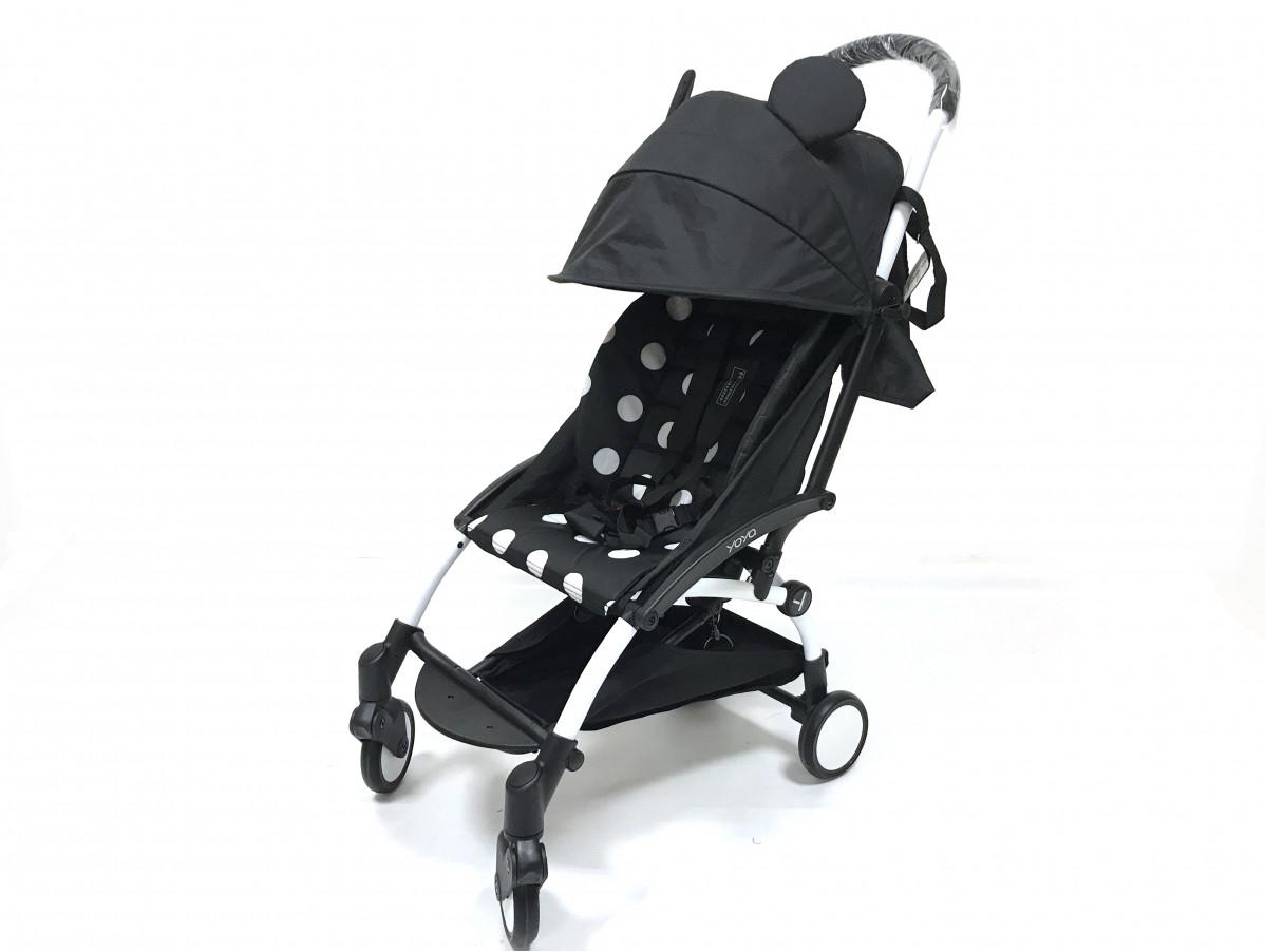Детская коляска YOYA 175A+ Микки оксфорд белая рама