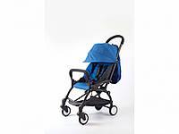 Детская коляска YOYA 175A+ Синий лен черная рама, фото 1