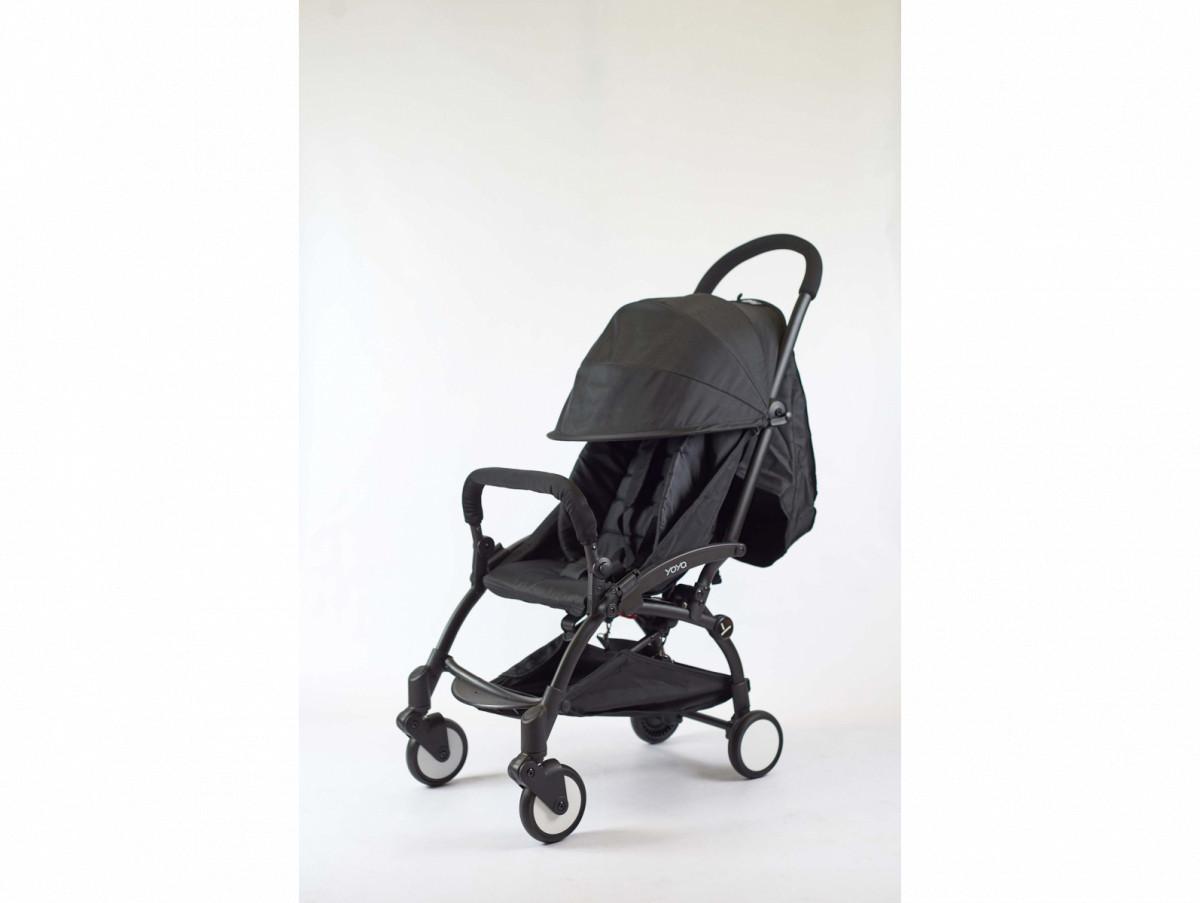 Детская коляска YOYA 175A+ Черный оксфорд черная рама