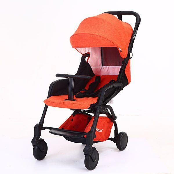 Детская коляска YOYA Care 2018 Оранжевая лен черная рама