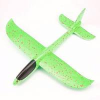 Метательный пенопластовый Планер-Самолет «FAYNAPLAN» v 2.0 48см. зеленый