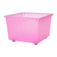 """ИКЕА """"ВЕССЛА"""" Ящик на колесах, светло-розовый"""