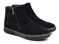 Зимние замшевые черные ботинки угги на меху мужская обувь Rosso Avangard Y-G Black Vel