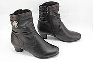 Черные ботинки кожаные Battine B665, фото 2