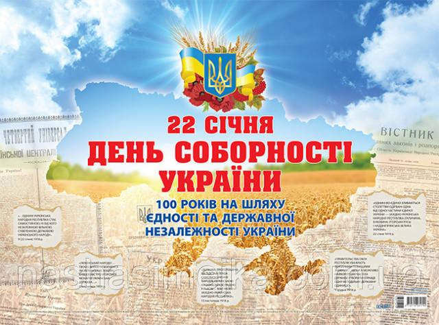 Плакат «День Соборності України. До 100 річчя Проголошення акту злуки». (Основа)