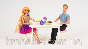 """Игровой набор кукол типа Барби и Кен 8387 """" Кафе"""" - мебель, посуда, продукты, фото 2"""