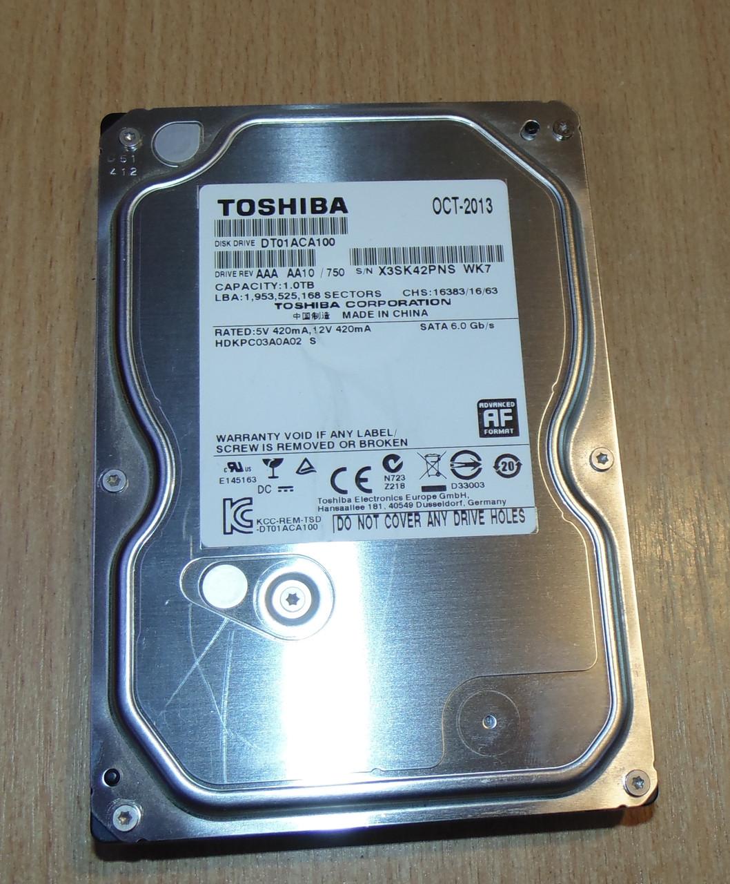 1000GB Винчестер Toshiba sata3 DT01ACA100 (PNS)