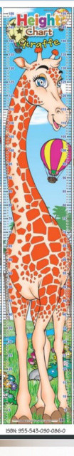 Зростомір Жирафа. Height Chart. (152х25 см.) ( MIND TO MIND)