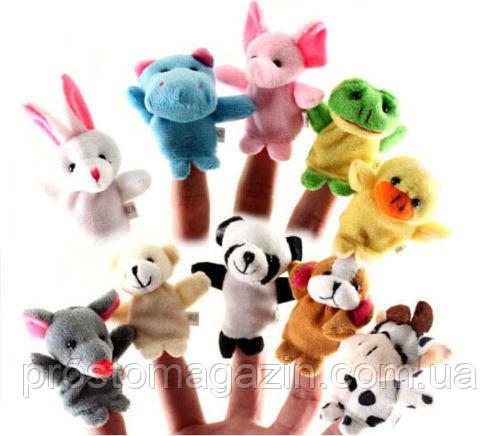 Пальчиковий ляльковий театр, зоопарк, іграшки-тваринки на пальці