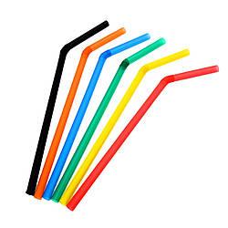 Трубочки для напитков гофра 1000шт/уп цветная 21см./0.48мм