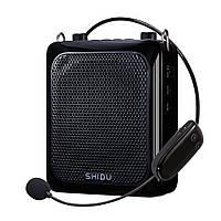 Підсилювач голосу з бездротовим мікрофоном SHIDU UHF 25W (USB/Bluetooth/REC/акумулятор)