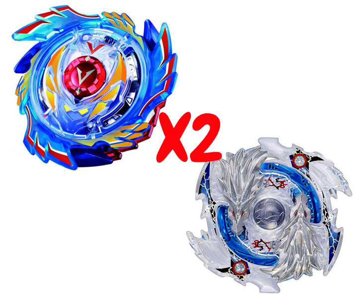 Набор волчков BEYBLADE (Бейблейд) God Valkyrie V3 B-73 (Божественный Волтраек) VS Luinor Lost Longinus B-66 (Луинор Лост Лонгинус) с пускателями