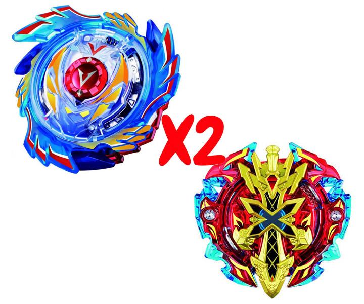 Набор волчков BEYBLADE (Бейблейд) God Valkyrie V3 B-73 (Божественный Волтраек) VS Xeno Xcalibur B-48 (Ксено Экскалибур) с пускателями