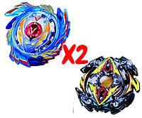 Набор волчков BEYBLADE (Бейблейд) God Valkyrie V3 B-73 (Божественный Волтраек) VS Zillion Zeus B-59 (Зиллион Зейтрон) с пускателями, фото 1