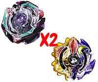 Набор волчков BEYBLADE (Бейблейд) Hell Salamander B-113 (Адская Саламандра) VS Трансформер Солнце и Луна Sun And Moon God Duo B-00 с пускателями, фото 1