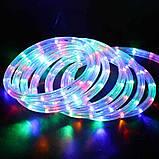 Треугольная светодиодная лента, RGB 18М, 6 ЦВЕТОВ (7196) /Новогодняя светодиодная гирлянда-лента 10M RGB, фото 2