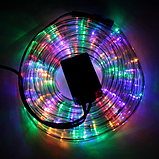 Новогодние гирлянды   Led лента   Светодиодная лента, овальный шланг 2835 10м с контроллером на 220в, фото 3
