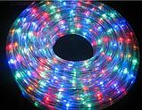 Новогодние гирлянды   Led лента   Светодиодная лента, овальный шланг 2835 10м с контроллером на 220в, фото 5