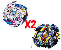 Набор волчков BEYBLADE (Бейблейд) Nightmare Longinus B-97 (Луинор Ночной Кошмар) VS Zillion Zeus B-59 (Зиллион Зейтрон) с пускателями, фото 1