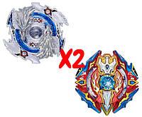 Набор волчков BEYBLADE (Бейблейд) Sieg Xcalibur B-92 (Сиег Экскалибур) VS Luinor Lost Longinus B-66 (Луинор Лост Лонгинус) с пускателями, фото 1