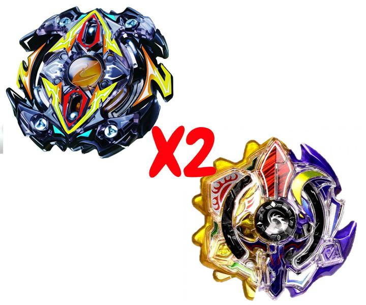 Набор волчков BEYBLADE (Бейблейд) Zillion Zeus B-59 (Зиллион Зейтрон) VS Трансформер Солнце и Луна Sun And Moon God Duo B-00 с пускателями