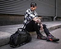Мужская спортивная сумка Cross MG черная дорожная