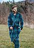 Чоловічий халат в клітинку для дому Key MGL-048, фото 2