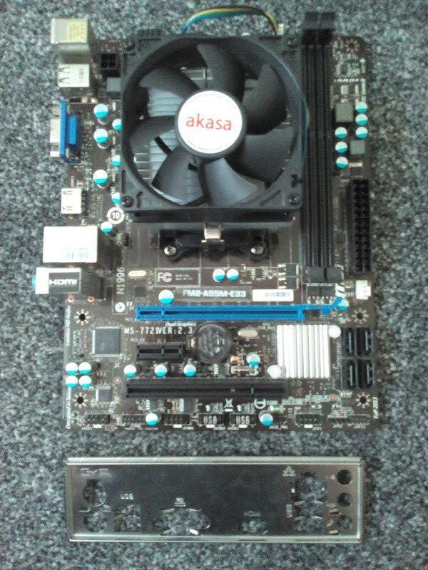 ИГРОВОЙ 4ех ЯДЕРНЫЙ Комплект AMD - Плата sFM2  MSI MS-7721 на DDR3 + ПРОЦЕССОР AMD A8-5500k 4 ЯДРА по 3.2 GHZ